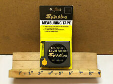 Vintage Rare Spiralux 5m/16ft Measuring Tape With Spirit Level No.09415