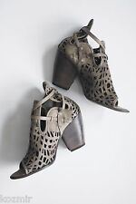 Free People Shoes IXOS CUTWORK OPEN TOE BOOTIES Sandals Heels Made In Italy 37