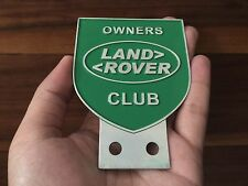 CAR BADGE BAR LAND ROVER OWNERS CLUB SERIES 1 2 3 COLLECTIBLES CLASSIC CAR