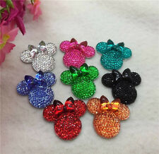 6PCS MIX coLOR Minnie's BOW Flat Back Resin Scrapbooking For phone/Craft new  !1