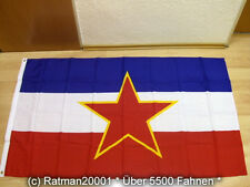 Fahnen Flagge Jugoslawien mit Wappen - 90 x 150 cm