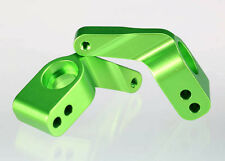 Traxxas Aluminum Stub Axle Carriers Includes Bearings 3652G *NIP* Green