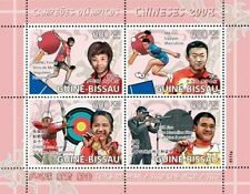 GUINEA BISSAU CHINA BEIJING OLYMPICS WINNERS TABLE TENNIS ARCHERY SHOOTING 9111u