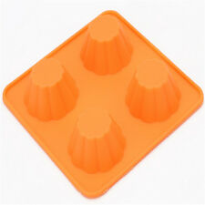 4 Cups Muffin Cupcake Egg Tart Cake Silicone Mould Jelly Candy Mold Baking Tool