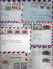 SAUDI ARABIA 1970's 80's COLLECTION OF SIX AIRMAIL COMMERCIAL COVERS ALL FRANKED