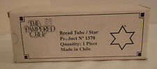"Pampered Chef Bread Tube Star Baking New NIB 9"" Long"