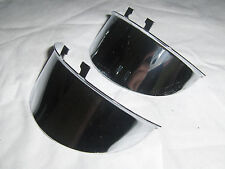 "HARLEY-DAVIDSON VINTAGE STYLE CHROME SPOT LIGHT VISORS 4-1/2"" USA MADE 1 PR A+++"