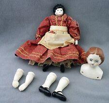 Vintage Antique Porcelain Doll Parts Victorian