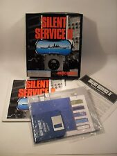 PC Game - Silent Service 2 Microprose IBM PC/XT IBM AT, PS1,PS2, & Tandy 1000