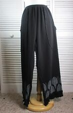 Passage Pants Black Thermal w/ Art Nouveau XL by Blue Fish Red Moon Clothing