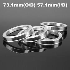 4 x Universal Aluminum Hub Centric Ring Wheel Spacer Set 73.1mm O/D 57.1mm I/D