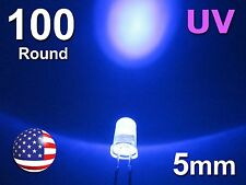 100pcs 5mm UV - Purple LED - Ultra Violet Round Water Clear Lamp Diode DIY