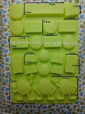 Monster Inc. Wazowski  Ice Jelly Chocolate Fondant Gum paste Silicon Mold Molder