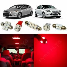 6x Red LED lights interior package kit for 2012-2014 Ford Focus FF1R