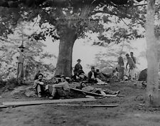 "Wounded soldiers after Battle of Spotsylvania 8""x 10"" Civil War Photo Picture 84"