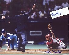 Tom Nieto 1985 St Louis Cardinals Autographed Signed 8x10 Photo COA #4