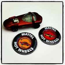 Hot Wheels Redline Silhouette Dark Orange Spectraflame USA Bonus Buttons Mattel