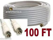 100 FT RG6 SATELLITE COAXIAL CABLE TV HD ANTENNA DIRECTV DISH NETWORK WARNER