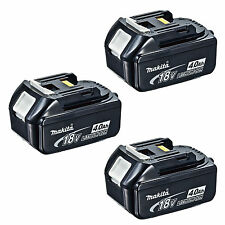 MAKITA 18V LXT LITHIUM ION BL1840 BATTERY 4.0AH - GENUINE PACK OF 3 BATTERIES