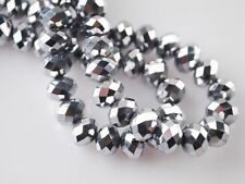 1000PC 3x4mm Silver AB gemstone Crystal Faceted Loose Bead
