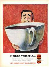 1959 Sanka Instant Coffee Giant Cup John Falter ART PRINT AD