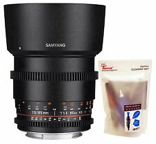 Samyang 85mm T1.5 UMC AS Cine VDSLR II Version 2 Telephoto Lens for Nikon DSLR