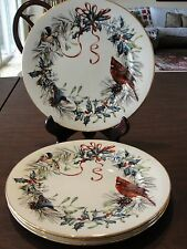 LENOX WINTER GREETINGS 4 DINNER PLATES 11""