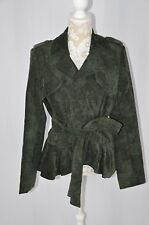 Chelsea & Theodore Womens 14 Green Corduroy Jacket Deep Peacock NEW Button Tie