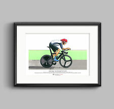 Bradley Wiggins Individual Time Trial, London 2012 Olympics ART POSTER A3 size