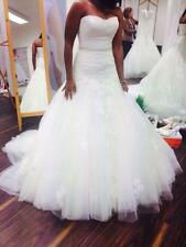 New White Ivory Wedding dress Bridal Gown Custom Size 6 8 10 12 14 16 ++