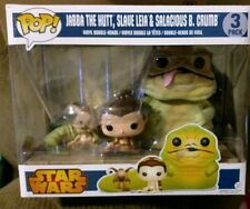 3 New Funko Pop Star Wars Jabba The Hut Slave Princess Leia & Salacious B. Crumb