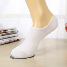 1Pair White Socks Casual Low Cut Boat Invisible Soft Cotton Socks For Men Women