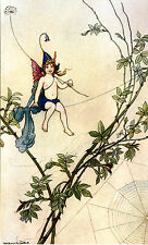 Book of fairy poésie x par warwick goble 1920 imprimé poster photo image art A4