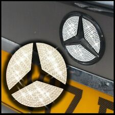 Crystal Stone Rear Boot Badge Inserts Emblem Star Sticker Mercedes Benz C Class