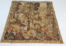 Stunning Large Vintage French Verdure Tapestry 144x142cm T394