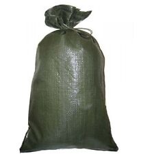 SANDBAGS LOT OF 30 HEAVY DUTY 14 X 26 GREEN SAND BAGS ROUGHLY HOLDS  50# BAG