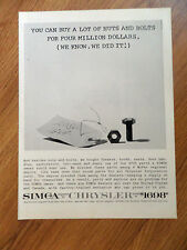 1960 Simca Ad Buy a Lot of Nuts Bolts for 4 Million
