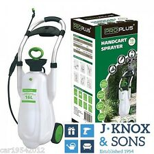 16 litre Handcart Pump Garden Lawn Sprayer Weed Chemical Pesticide Spray Proplus