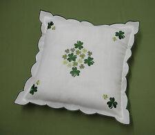 Embroidered Shamrock Cushion Cover Ireland Irish Celtic Shannon St. Patrick's