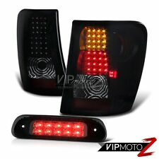 1999-2004 Jeep Grand Cherokee WG 4WD Roof Brake Lamp Smoke Tinted Taillights LED