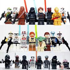 PACK 24 FIGURAS STAR WARS + ACCESORIOS  LEGO COMPATIBLE / MISMA CALIDAD QUE LEGO