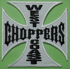 Ecusson Patch thermocollant biker WEST COAST Choppers Bikers USA - fond blanc