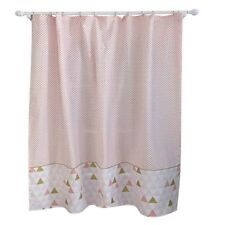"Triangle and Dots Shower Curtain - 72"" x 72"" - White Pink"