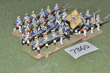 25mm seven years war prussian fusiliers 30 figures (7360) painted metal