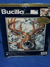 Bucilla Perfect Ten Whitetail Deer Buck in Winter Counted Cross Stitch Kit NEW