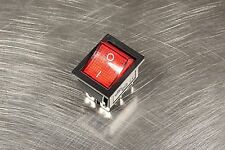 2 Pcs 15A 250V 20A 125V High Current Red Illuminated Rocker Switch 6-Leg