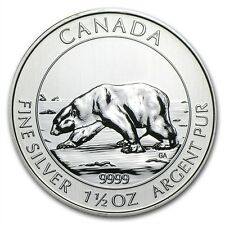 Canadian Polar Bear 2013 1.5 oz .9999 Silver Coin