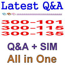 Cisco Best Practice Material For 300-101 300-115 300-135 3-in-1 Exam Q&A PDF+SIM