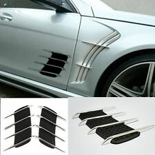 2x Chrome Exterior Fender Side Vent Air Flow Grille Decoration Sticker For Dodge