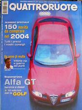 Quattroruote 579 2004 Al volante Porsche Cayenne V6. Alfa 147 Gtam 4x4 [Q.11]